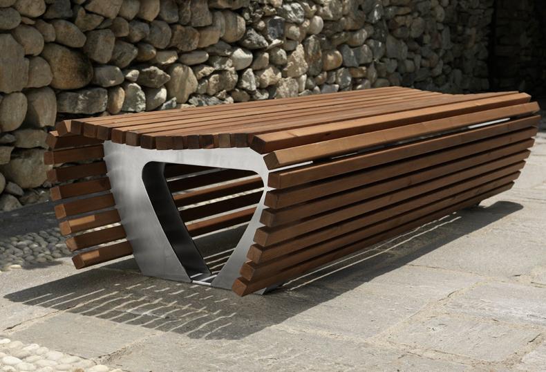 Wasabi panca for Arredo urbano legno